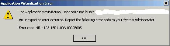 AppV-0A-0000E005